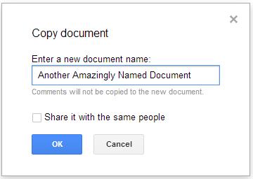 חלון יצירת עותק מסמך ללא אפשרות לשינוי תיקיה